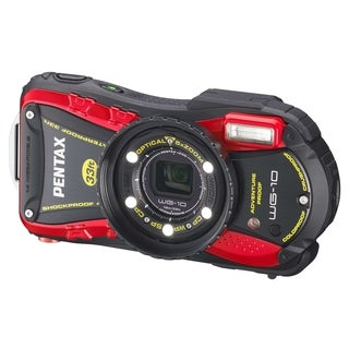 Pentax Optio WG-10 Waterproof 14MP Red Digital Camera