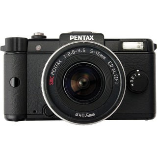 Pentax Q 12.4MP Black Digital SLR Camera with 5-15mm Lens