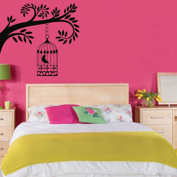 Bird in a Cage Vinyl Wall Decal