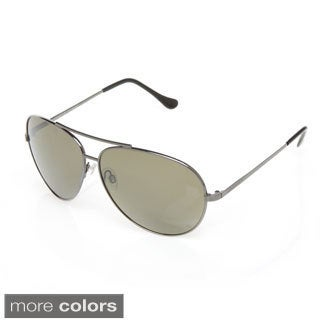 Serengeti '7508' Shiny Gunmetal Large Aviator Sunglasses