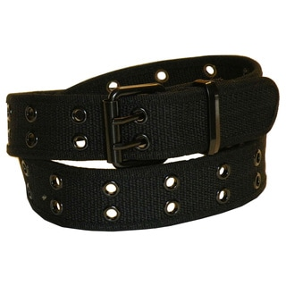 Men's Double Rivet Canvas Belt