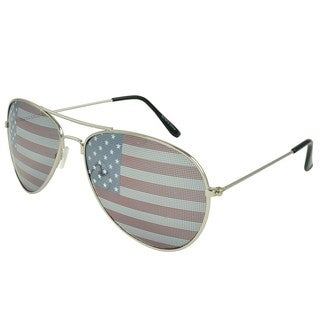Apopo Eyewear 'Patriot' Silver Aviator Sunglasses