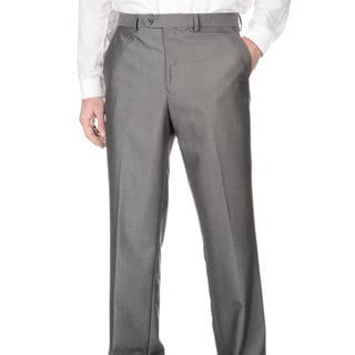 Adolfo Men's Slim Fit Silver Sharkskin Pant Seperates