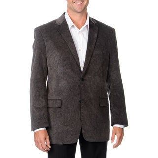 Adolfo Men's Grey Frosted Cord Coat