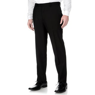 Adolfo Men's Slim Fit Black Textured Pant Separates