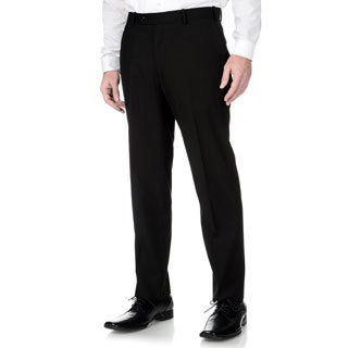 Adolfo Men's Slim Fit Black Textured Pant Seperates