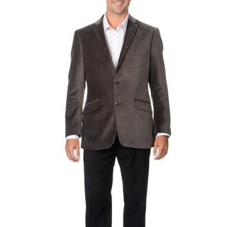 Adolfo Men's Grey Velvet Coat