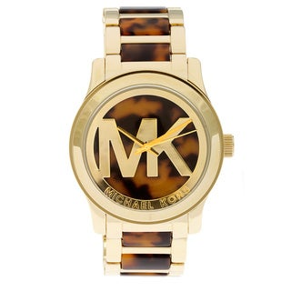 Michael Kors Women's MK5788 Runway Tortoise Stainless Steel Watch