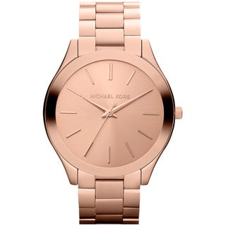 Michael Kors Women's MK3197 'Slim Runway' Rosetone Bracelet Watch