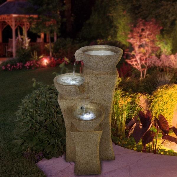 Cascade Bowls LED Lights Fountain