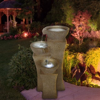 Cascade Bowls LED Lights Fountain