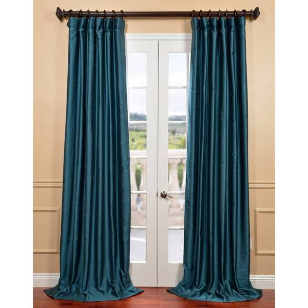 eff fiji yarn dyed faux dupioni silk curtain panel