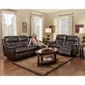 Espresso Dual Reclining Sofa and Loveseat