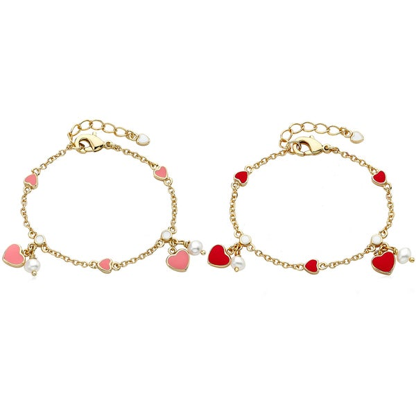 Little Miss Twin Star Heart Bracelet