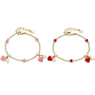 Little Miss Twin Star Heart Bracelet