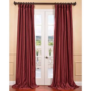 Cherrywood Yarn Dyed Faux Dupioni Silk Curtain Panel