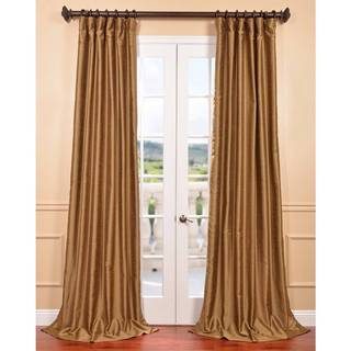 Empire Gold Yarn Dyed Faux Dupioni Silk Curtain Panel