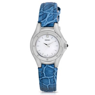 Seiko Women's Blue Leather Band Watch