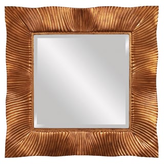 Tristan Gold Leaf with Copper Accent Mirrors (Set of 10)