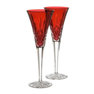 Waterford Lismore Crimson Flutes (Set of 2)