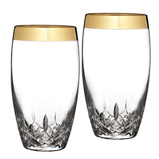 Waterford Lismore Essence Gold HiBall Glasses (Set of 2)