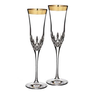 Waterford Lismore Essence Gold Flute (Set of 2)