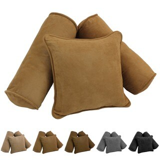 Blazing Needles Microsuede Pillow (Set of 3)