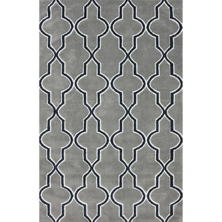 nuLOOM Modern Moroccan Trellis Lattice Gray Area Rug (5' x 8')
