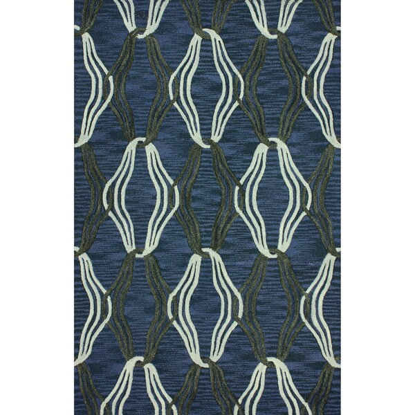 nuLOOM Handmade Duo Trellis Blue Rug (5' x 8') 12070413