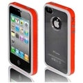 BasAcc White/ Orange/ Transparent Black Case for Apple iPhone 4/ 4S