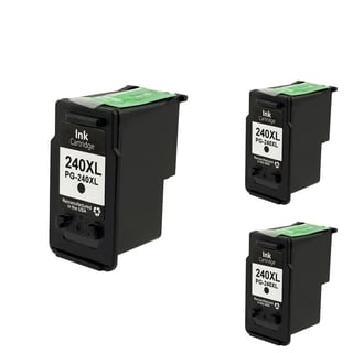 Canon-CL 240XL Black Cartridge Set (Remanufactured) (Pack of 3)
