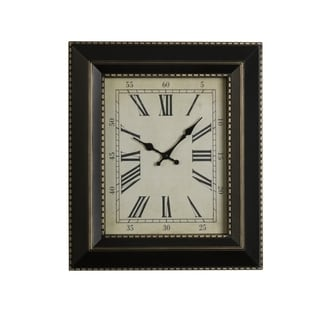 Elements 20 x 17 Black Gold Studio Clock