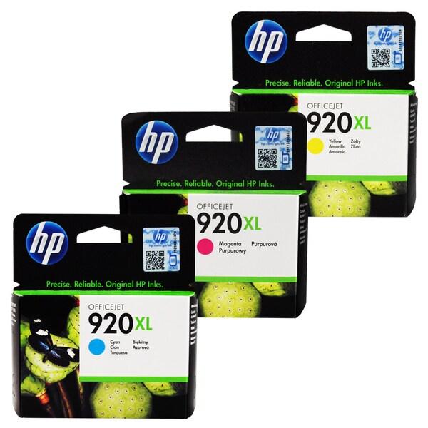 HP 920XL Cyan, Magenta, Yellow Ink Cartridge Set (Pack of 3)