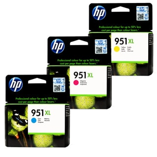 HP 951XL Cyan, Magenta, Yellow Ink Cartridge Set (Pack of 3)