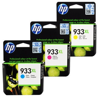 HP 933XL Cyan, Magenta, Yellow Ink Cartridge Set (Pack of 3)
