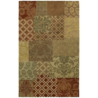 'St. Joseph' Multi Prints Hand-tufted Wool Rug (5'0 x 7'9)