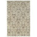 Hand-tufted St. Joseph Taupe Damask Wool Rug (3'6 x 5'3)