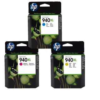 HP 940XL Cyan, Magenta and Yellow Ink Cartridge Set (Pack of 3)