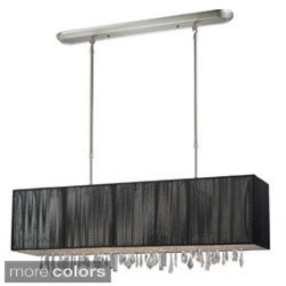Z-Lite 4-light Island/ Billiard Fixture with Crystals