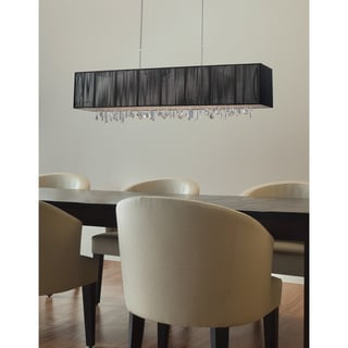Z-Lite 5-light Island/ Billiard Fixture with Dangling Crystals