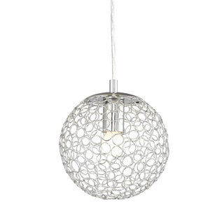 Z-Lite Chrome Wire Rings 1-light Sphere Pendant