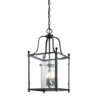 Z-Lite Bronze and Beveled Glass 3-light Pendant