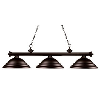 Z-Lite 3-light Metal Billiard Fixture