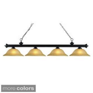 Z-Lite Bronze 4-light Billiard Fixture