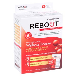REBOOTizer Anti-Aging Antioxidant Recovery Supplement (6 On-the-Go Pouches)