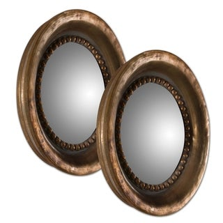 Uttermost Tropea Rounds Oxidized Copper Mirrors (Set of 2)