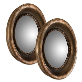 Uttermost Tropea Rounds Oxidized Copper Mirrors (Set of 2) - 17.375x17.375x2