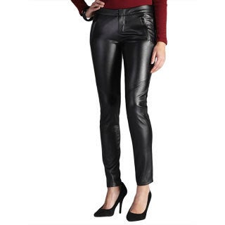 Jaye.e. Two Pocket Exposed Seam Faux Leather Pants