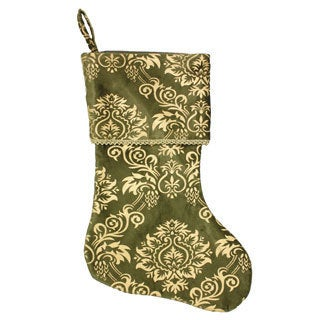 Green and Gold Khari Print Stocking (India)