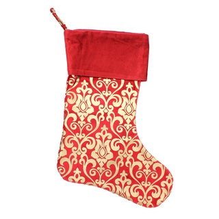 Red and Gold Khari Print Stocking (India)